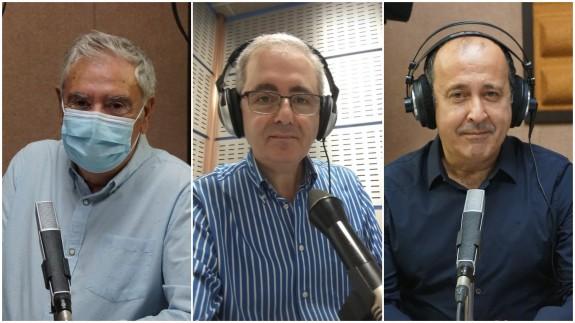 Enrique Nieto, Manolo Segura y Javier Adán