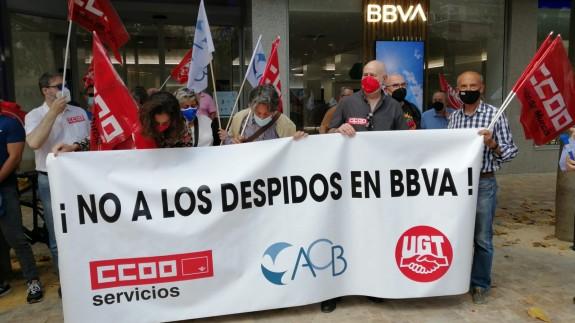 Protesta de los trabajadores esta tarde en Murcia