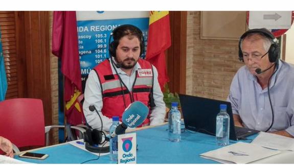 Mario Pérez junto a Miguel Massotti en el programa especial de 'Murycía' con motivo de las inundaciones