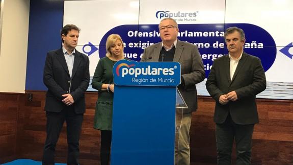 Los parlamentarios del PP reclaman al gobierno central soluciones urgentes para evitar nuevas inundaciones