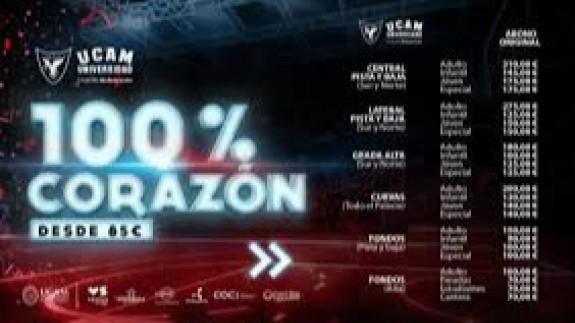 El UCAM de baloncesto congela el precio de sus abonos de la temporada 20-21.