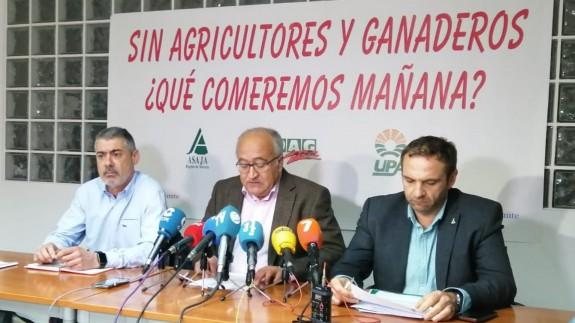 Marcos Alarcón, Miguel Padilla y Alfonso Gálvez, en rueda de prensa