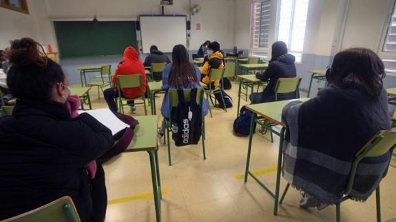 Alumnos de un instituto de Murcia