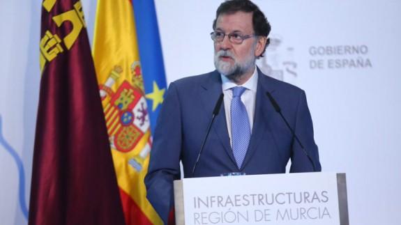 Rajoy en el acto celebrado en Murcia.