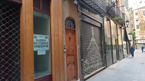 Comercios cerrados durante la crisis sanitaria.