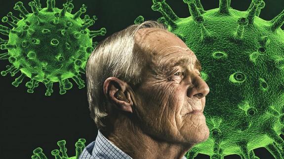 Hombre mayor y coronavirus