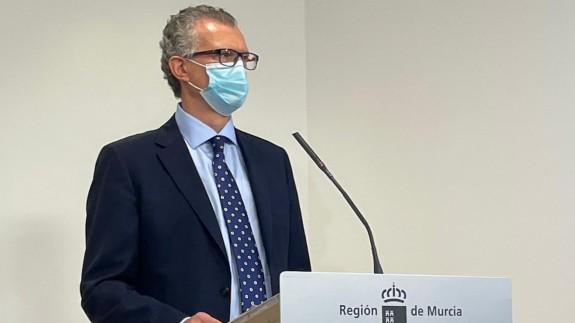 Juan José Pedreño, este jueves, en rueda de prensa. ORM