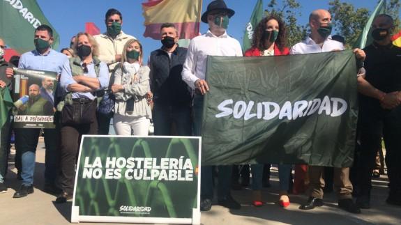 Un centenar de personas en la marcha del 1 de mayo convocada por el sindicato de Vox en Murcia