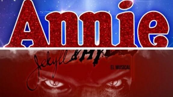 carteles de los musicales Annie y Jekyll & Hyde