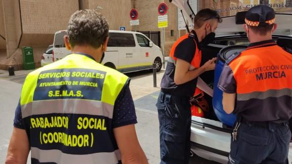 Equipo del SEMAS. Foto: Ayuntamiento de Murcia