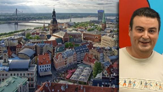 José Antonio García Ayala y vista aérea de Riga