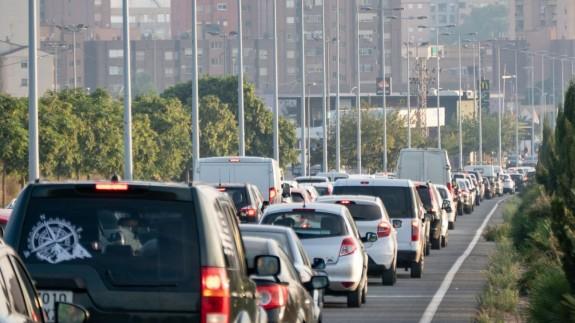Tráfico de entrada en la ciudad de Cartagena