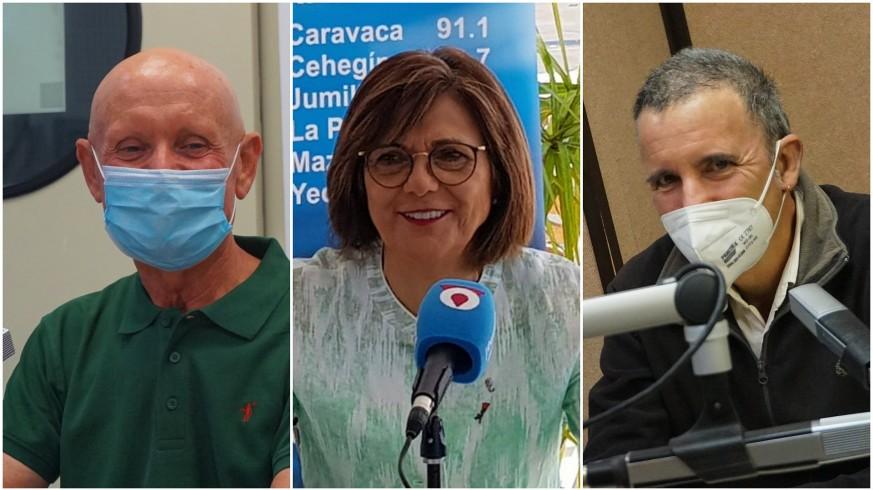 Domingo Coronado, Rosa Peñalver y Antonio Urbina