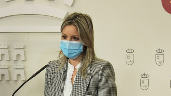 Ana Martínez Vidal en una rueda de prensa tras el Consejo de GobiernO