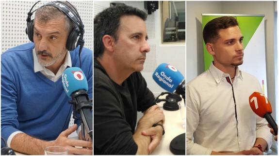 Óscar Urralburu, Antonio Urbina y David Ibáñez