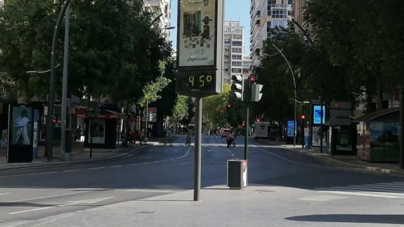 Gran Vía de Murcia este sábado por la tarde