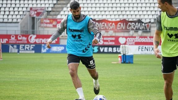Álvaro Moreno, en un entrenamiento