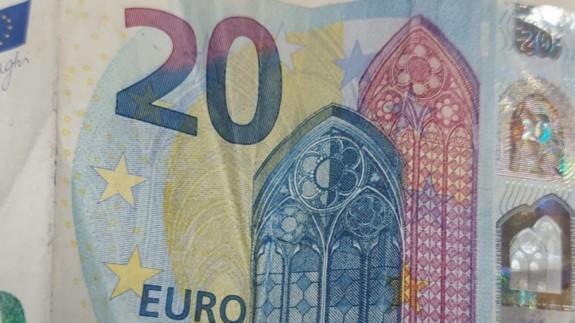 Billete de 20 euros. ORM