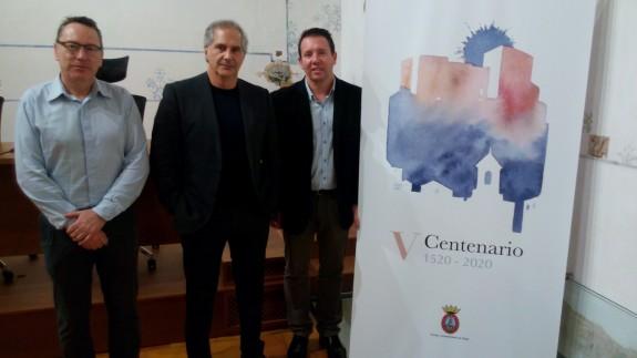 El Alcalde de Mula (primero por la derecha) en la presentación de 'Kairos'