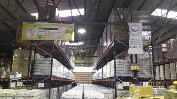 Alimentos almacenados en el Banco de Alimentos del Segura. ORM