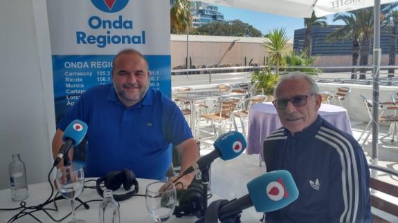 Manuel Sánchez Breis y Perico Arango en el Restaurante Mare Nostrum en Cartagena