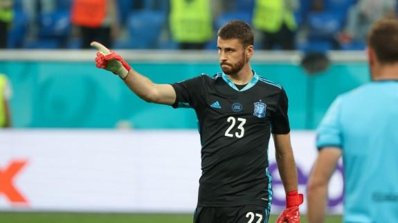 """Unai Simón: """"Lo que hemos hecho tiene su mérito, pero tenemos que ganar la Eurocopa"""