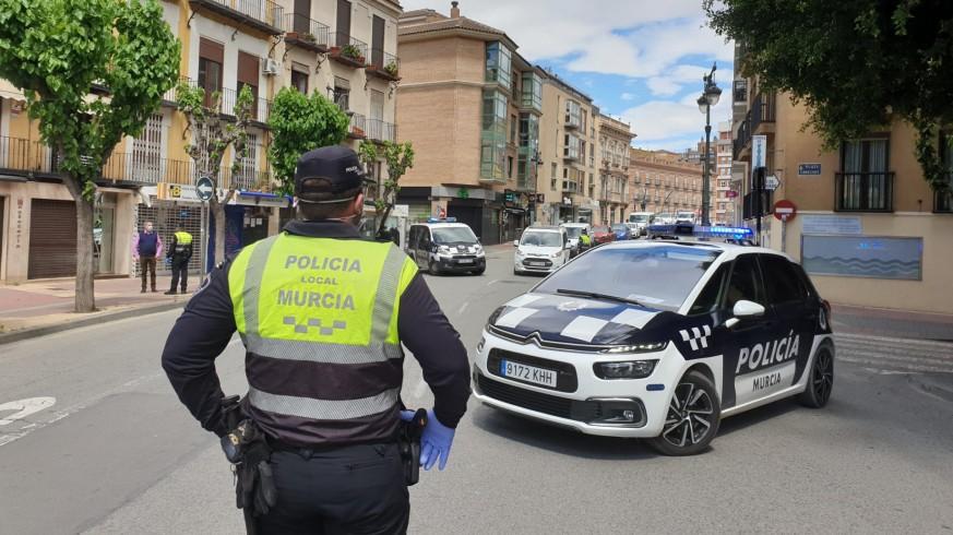 Control policial de movilidad durante el primer estado de alarma (archivo). ORM