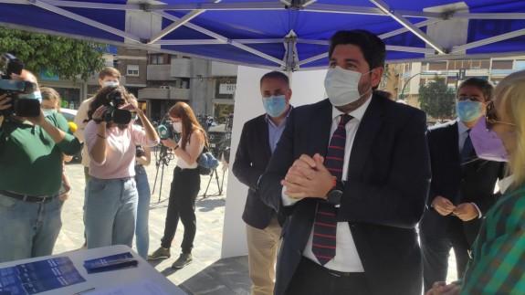 López Miras este martes durante un acto del PP
