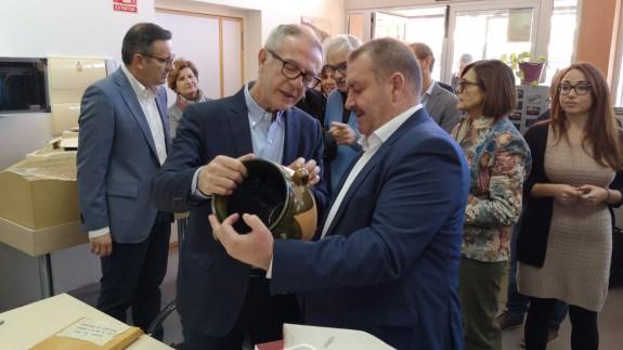 José Guirao junto al alcalde de Totana