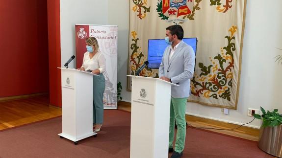 Antonio Luengo y Noelia Arroyo tras el Foro Interadministrativo del Mar Menor
