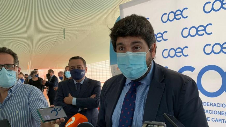 López Miras en un acto en Cartagena este viernes.