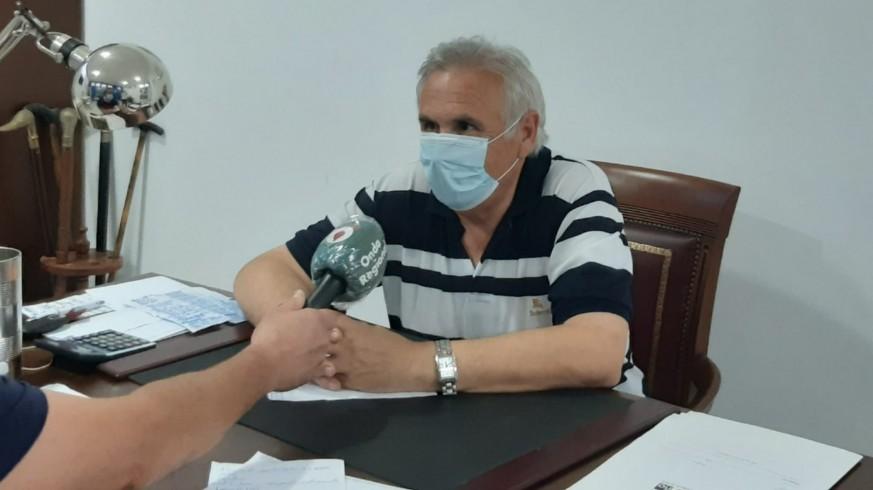 Alfonso García, durante la entrevista