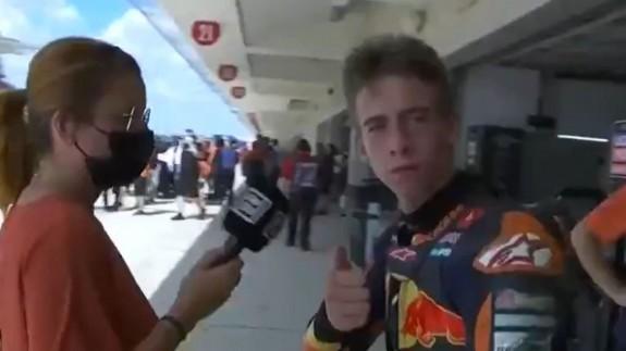 Pedro Acosta termina octavo en un accidentado GP de las Américas