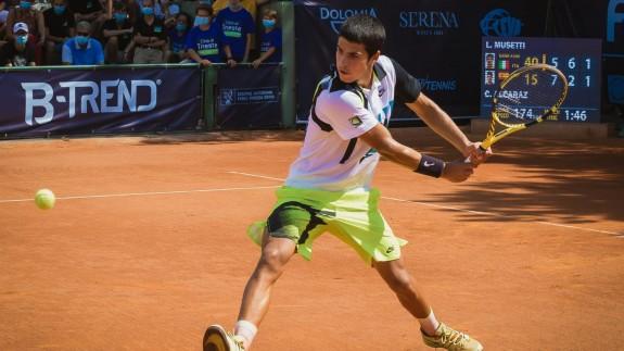 Carlos Alcaraz, en el Challenger de Cordenons