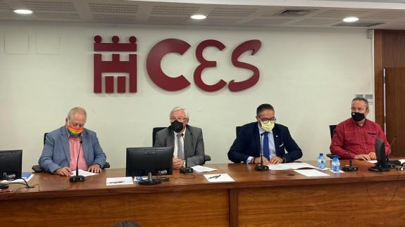 Rueda de prensa del Consejo Económico y Social este jueves en Murcia