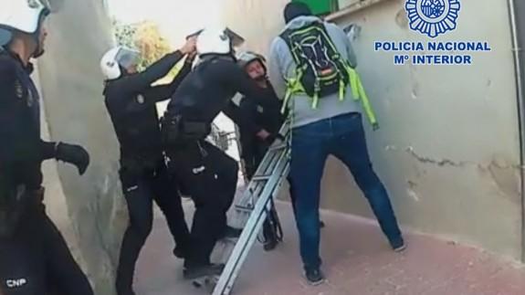 Intervención policial en Lorca