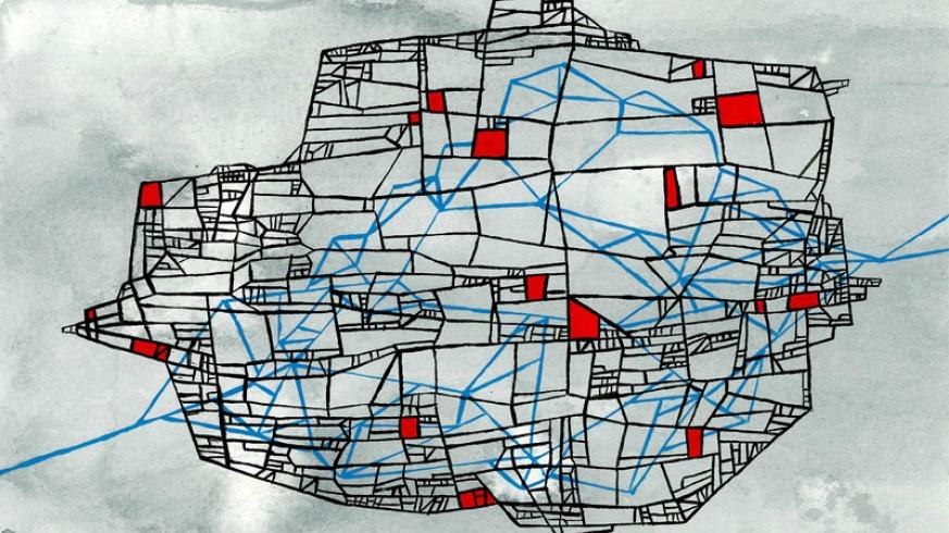 Representación de la ciudad de Esmeraldina de Italo Calvino