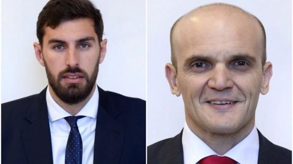 José Ángel Antelo, concejal de VOX y Antonio Lorca, edil del PSOE. Ayto Murcia