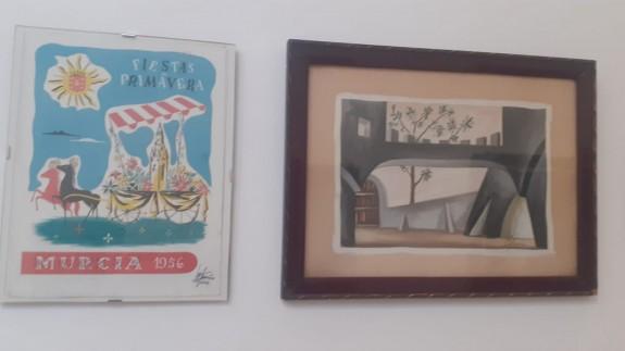 Parte de la exposición en el Museo de Bellas Artes de Murcia