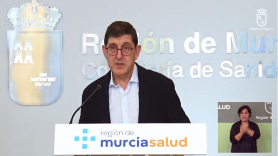 Manuel Villegas durante su comparecencia