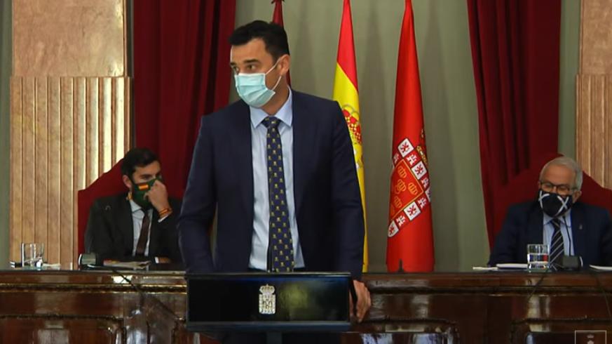 Pleno de la Moción de Censura en el ayuntamiento de Murcia