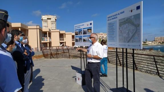 Inauguración de la Plaza en La Manga