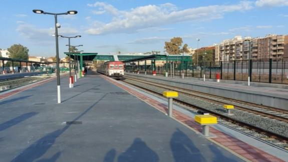 Estación de ferrocarril de El Carmen esta mañana. ORM