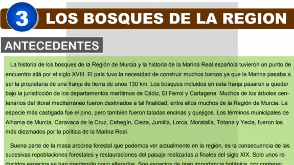 VIVA LA RADIO. Los bosques en la Región de Murcia