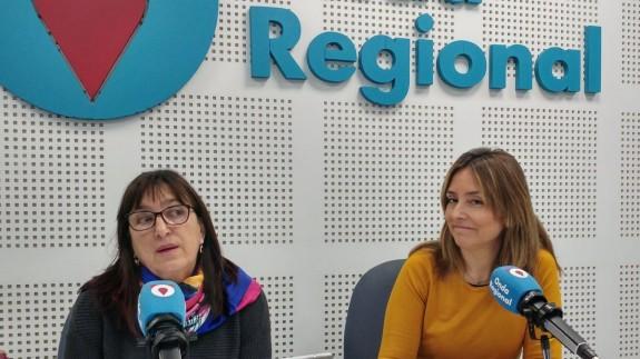 Juana Herreros y Conchita Ruíz, de la concejalía de Derechos sociales y cooperación internacional del Ayuntamiento de Murcia. En Onda Regional