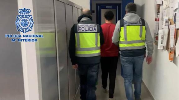 Imagen del arrestado por la policía