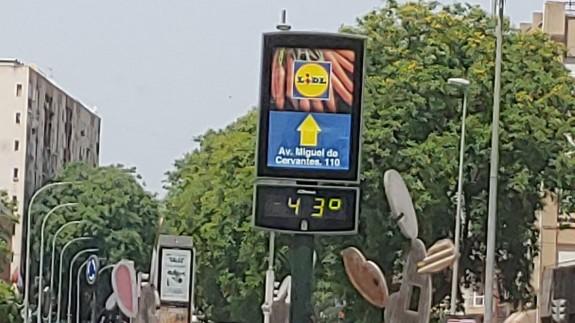 Aviso naranja por altas temperaturas en el Noroeste, Valle del Guadalentín, Lorca y Águilas