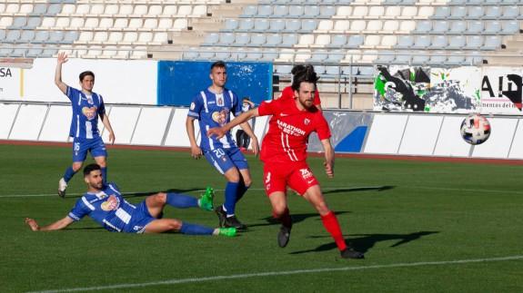 El Sevilla Atlético se pasea ante un Lorca ausente (0-4)