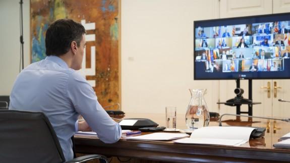 Videoconferencia de los presidentes autonómicos con Pedro Sánchez