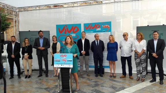Presentación de VIVO 2018 en la plaza Julián Romea. ORM